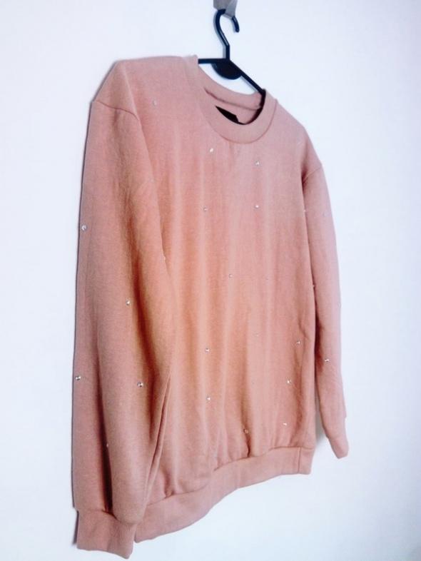 Parisian Brudny pudrowy róż bluza ozdobne klejnociki...