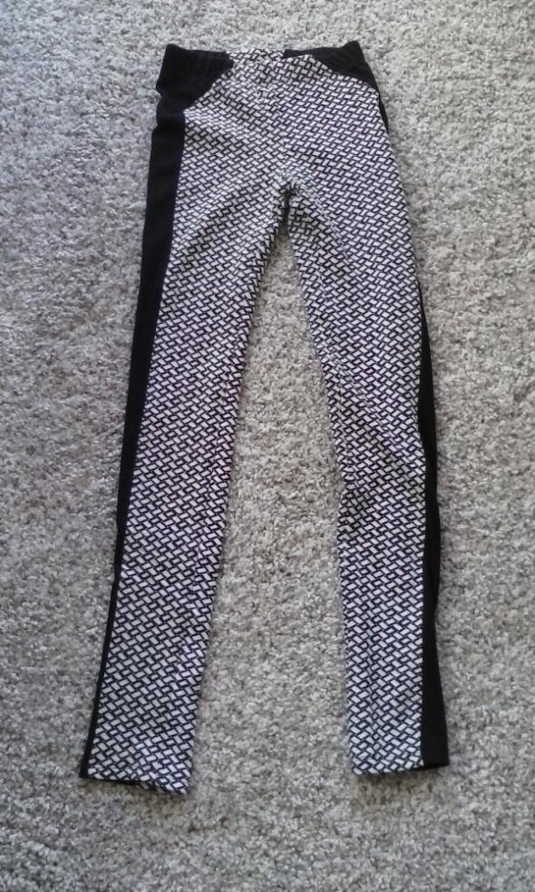 Nowe legginsy biało czarne Atmosphere rozm 34...