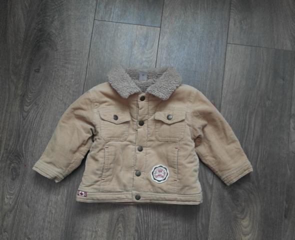 Beżowa kurtka z kożuszkiem 80
