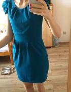 sukienka cyjan bufki...