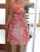 sukienka new look rożowa w kwiaty 44