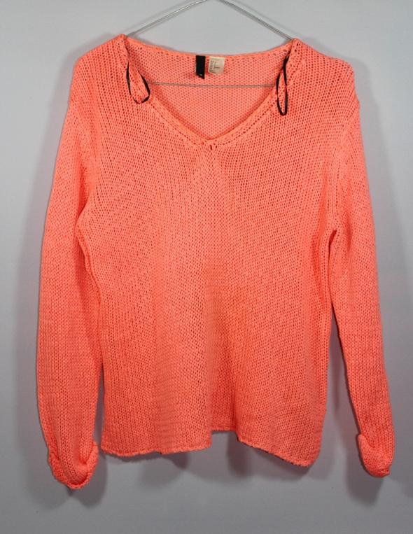 Neonowy brzoskwiniowy pomarańczowy sweter...
