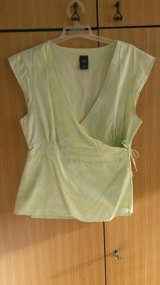 Jasnozielona kopertowa bluzka GAP XS...