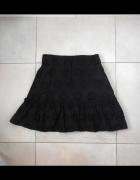 Zara nowa czarna spódniczka mini gipiura falbanki...