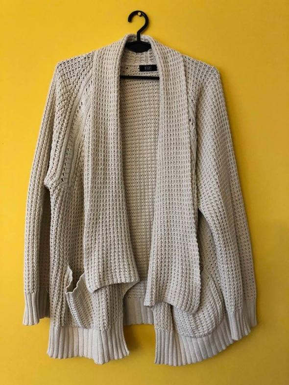 Swetry Kremowy kardigan