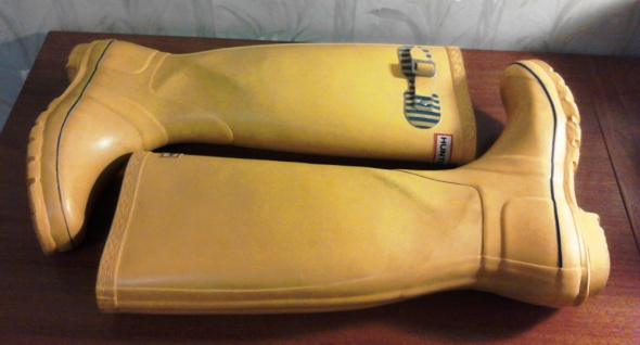 ORYGINALNE żółte kalosze HUNTER 39...