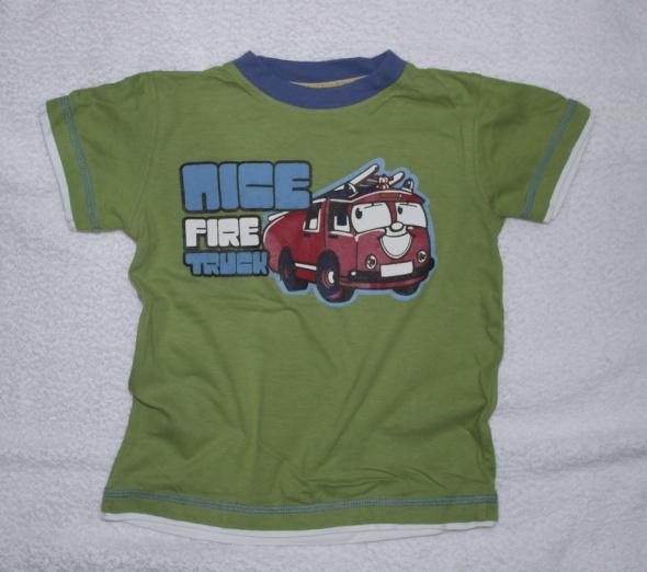 Bluzki Zielona bluzeczka samochody 98