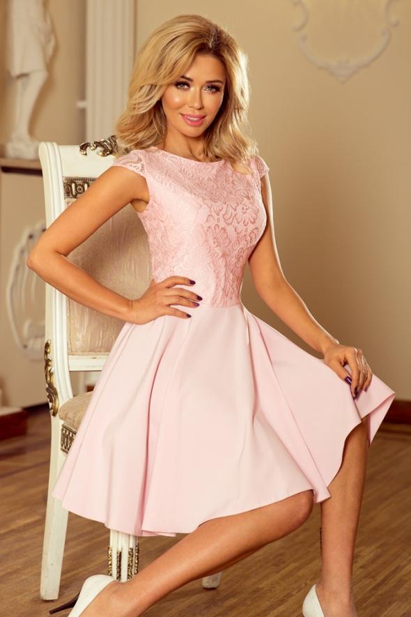 Sukienka mini M pudrowy roż wesele