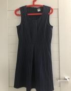granatowa sukienka w paski VERO MODA...