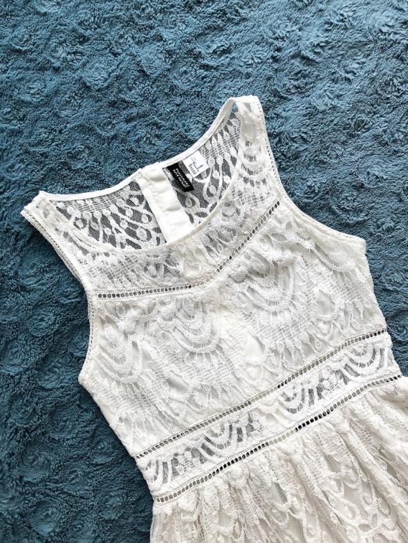 Biała sukienka H&M koronkowa na lato...