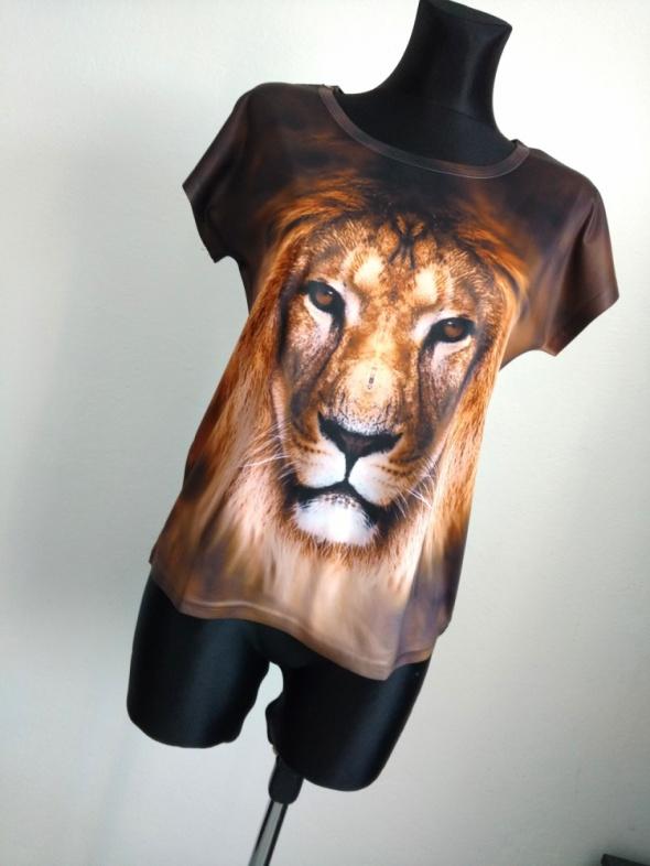 Koszulka 3D print lew XS S M
