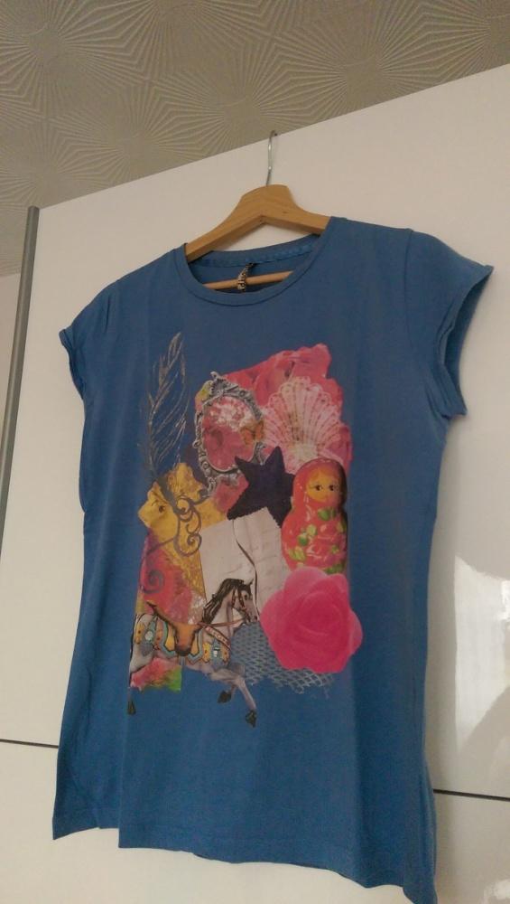T-shirt Bluzka Tshirt Stradivarius aplikacja rozm L