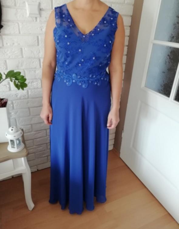 Sukienka maxi długa Chabrowa