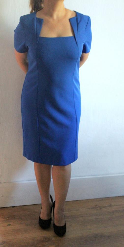 Elegancja chabrowa sukienka r L...