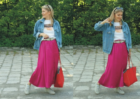 Blogerek Satynowa spódnica