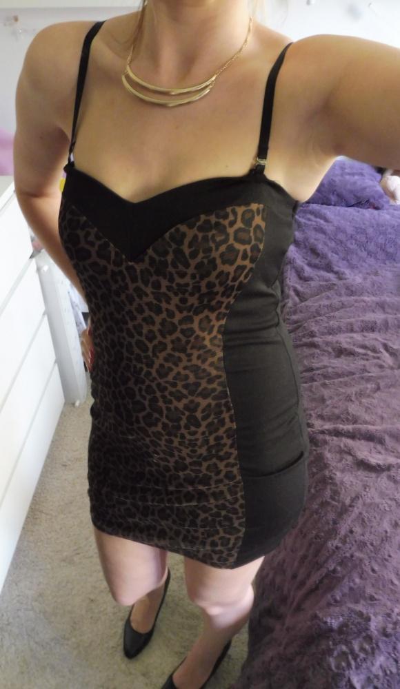 Sukienka tuba panterka Tally Weijl R36...