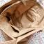 Reserved nude torba xxl shopper bag beżowa skóra
