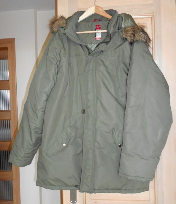 Kurtki i płaszcze Carry kurtka męska khaki parka zimowa z futerkiem