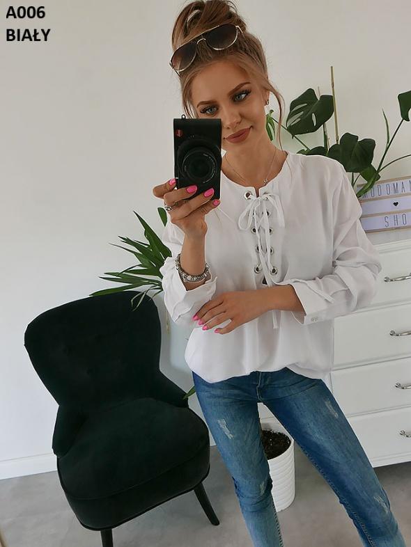 Elegancka biała bluzka L...