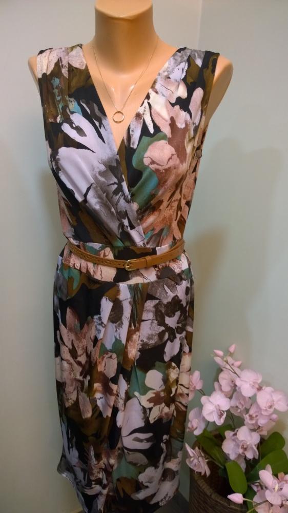sukienka w kwiaty 38 40