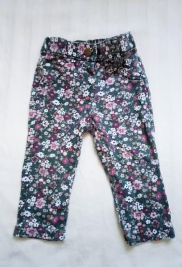 Spodnie rurki kwieciste george 74 80