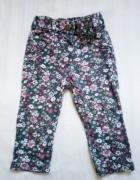 Spodnie rurki kwieciste george 74 80...