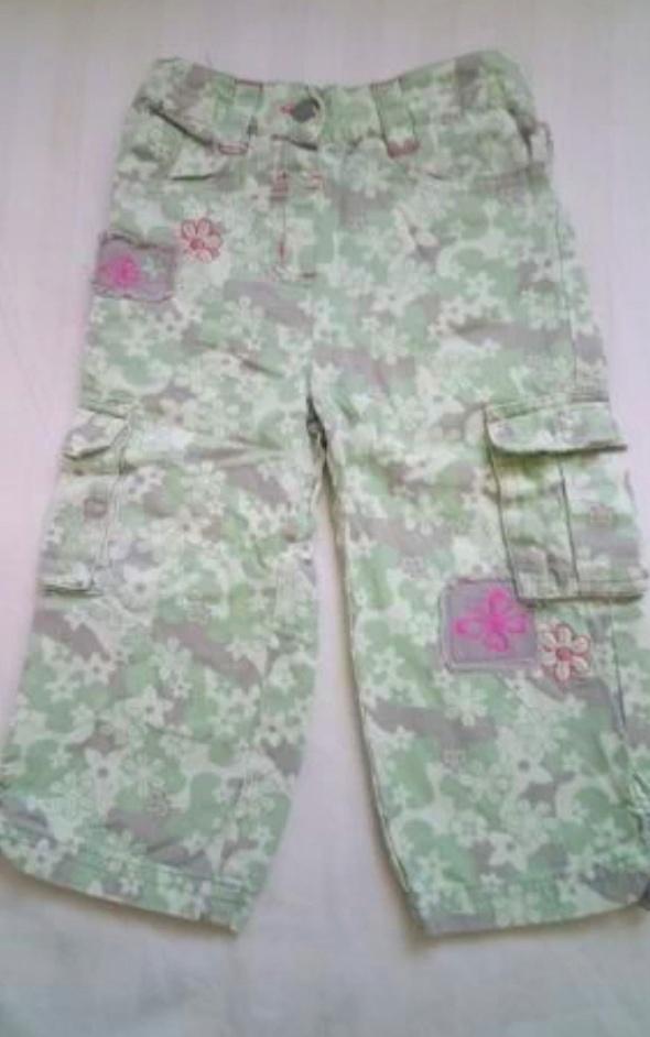 Spodnie bojówki 74 80 kwieciste