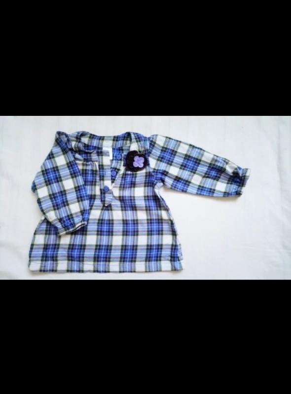 Koszula w kratkę 80 carters fioletowa