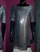 srebrna cekinowa sukienka