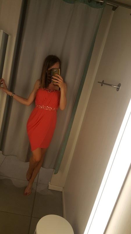 Nowa czerwona elegancka sukienka koktajlowa asos s