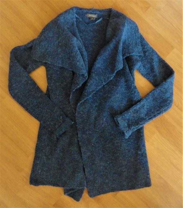 Granatowy ciepły sweter kardigan Primark xs s...