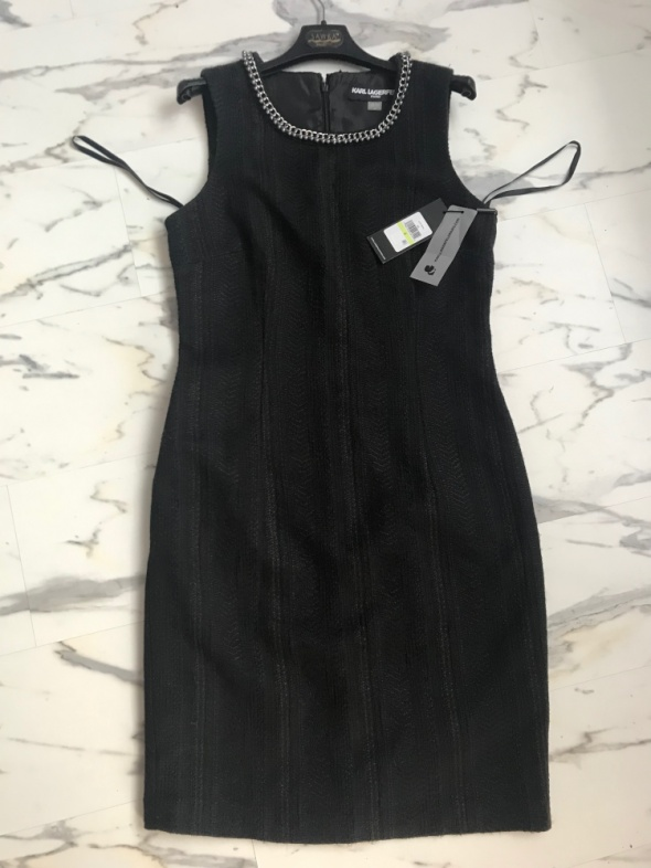 oryginalna sukienka Karl Lagerfeld czarna S M