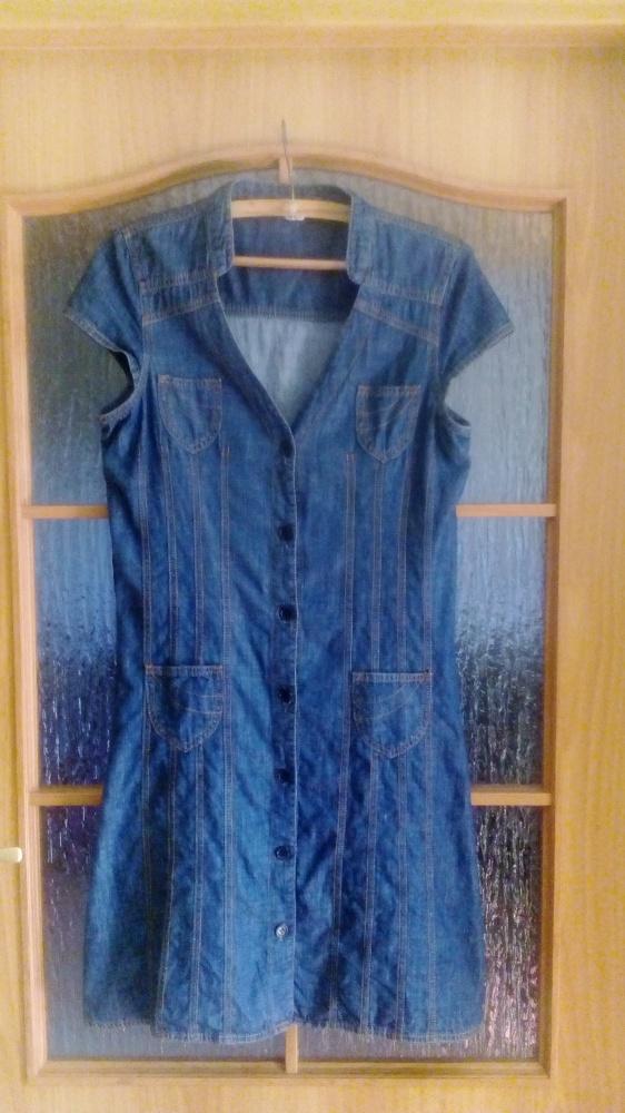 Sukienka szmijzerka jeans hit M 38