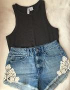 H&M crop top 34 xs szary krótka bluzeczka...