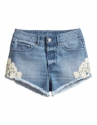 H&M szorty spodenki jeansowe 34 xs koronka wysoki...
