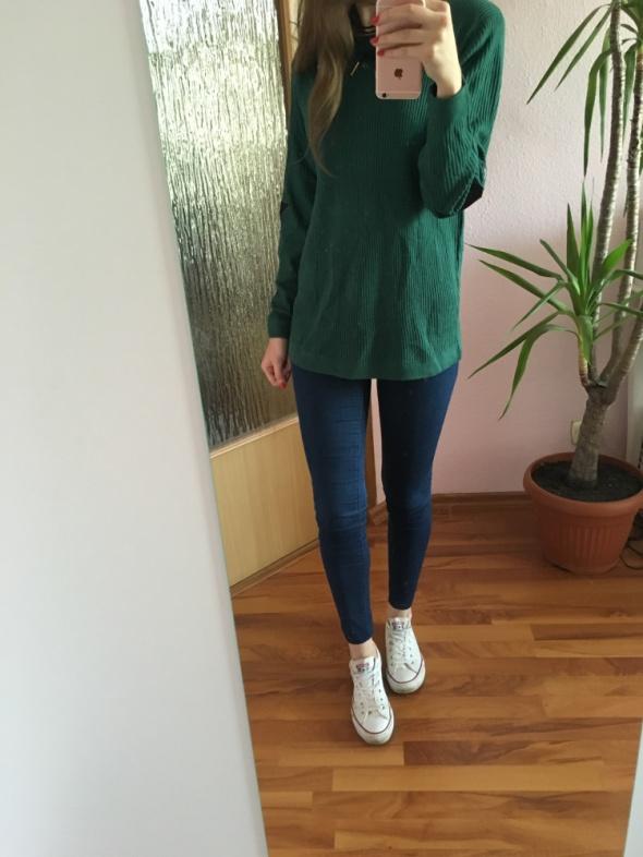 Tezenis zielony sweter 36 S oversize nowy ciepły