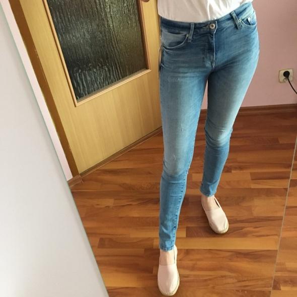 H&M dżinsy shaping spodnie rurki modelujące 34 XS