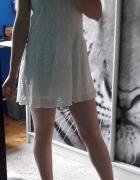 Sukienka ecru koronka House S...