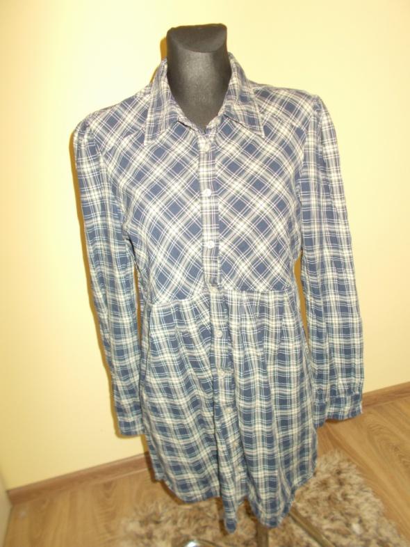 Koszule Koszula kratka vintage tunika L