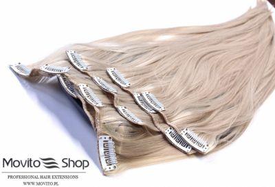 Ozdoby na włosy Sklep Gdansk zestaw Clip in 60 cm Wyprzedaż 160g MOVITO