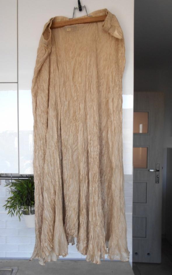 Introduction maxi spódnica jedwabna jedwab silk beżowa kremowa nude halka