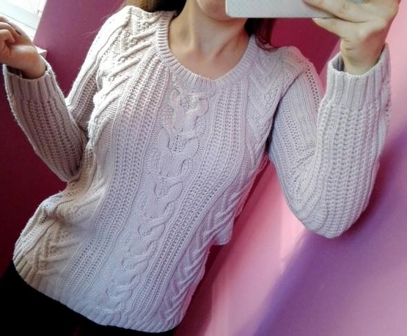 Sweter z warkoczami GAP pleciony rozmiar XS S