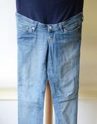 Spodnie H&M Mama Jeans Rurki S 36 Slim Dzinsowe Ciąża...