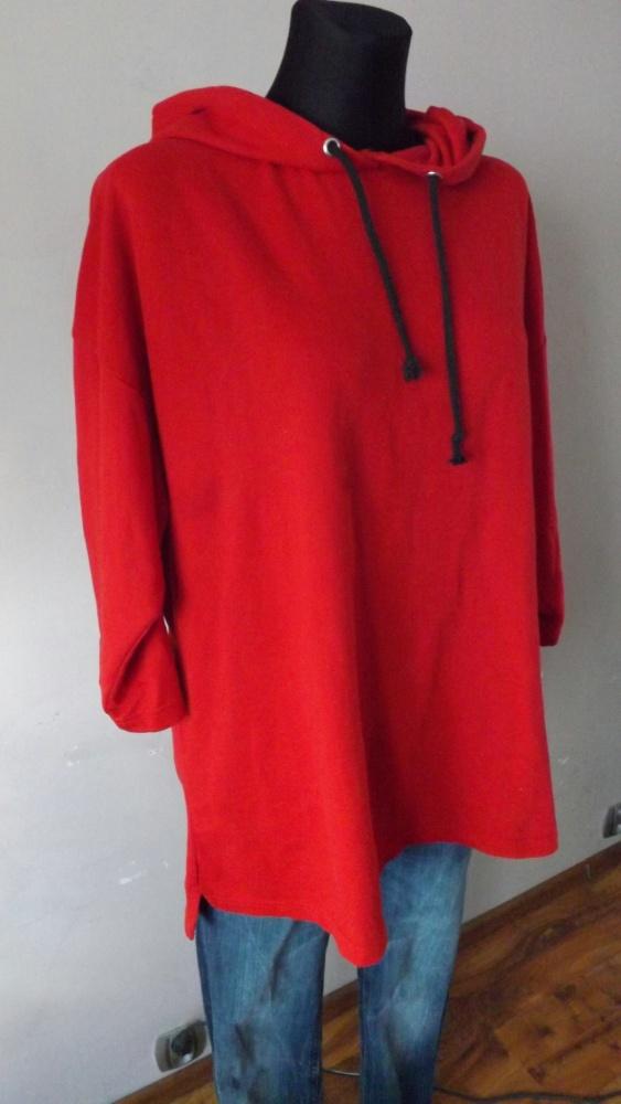 Bluza długa z kapturem M