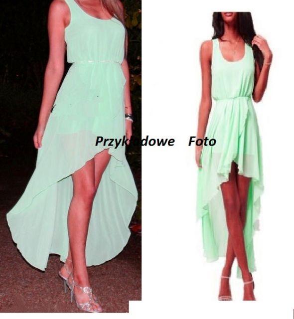 Zmysłowa niesamowita NOWA zielona sukienka