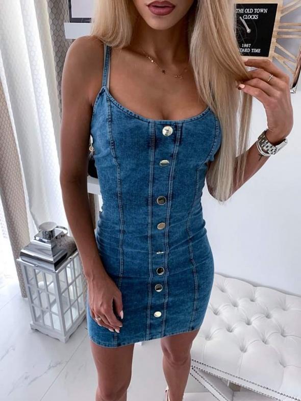 Sukienka jeans z guzikami