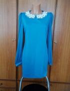 Piękna sukienka turkusowa z kołnierzykiem Atmosphere Primark 12...