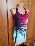 Piękna sukienka tunika w palmy Bershka S NOWA z metkami...