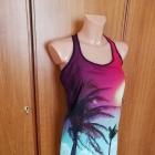 Piękna sukienka tunika w palmy Bershka S NOWA z metkami