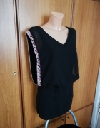 Piękna sukienka koraliki czarna Bershka S NOWA z metkami...